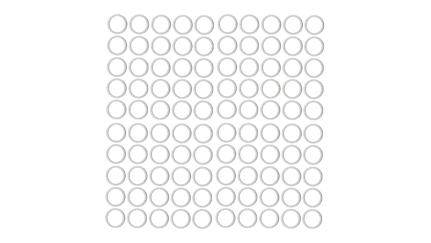 Pack of 100 1-1//2 OD 1-1//8 ID 1-1//2 OD Outstanding Weather Resistance Sterling Seal ORTFE320x100 Number-320 Standard Teflon O-Ring Sur-Seal Polytetrafluoro-Ethylene 1-1//8 ID Pack of 100