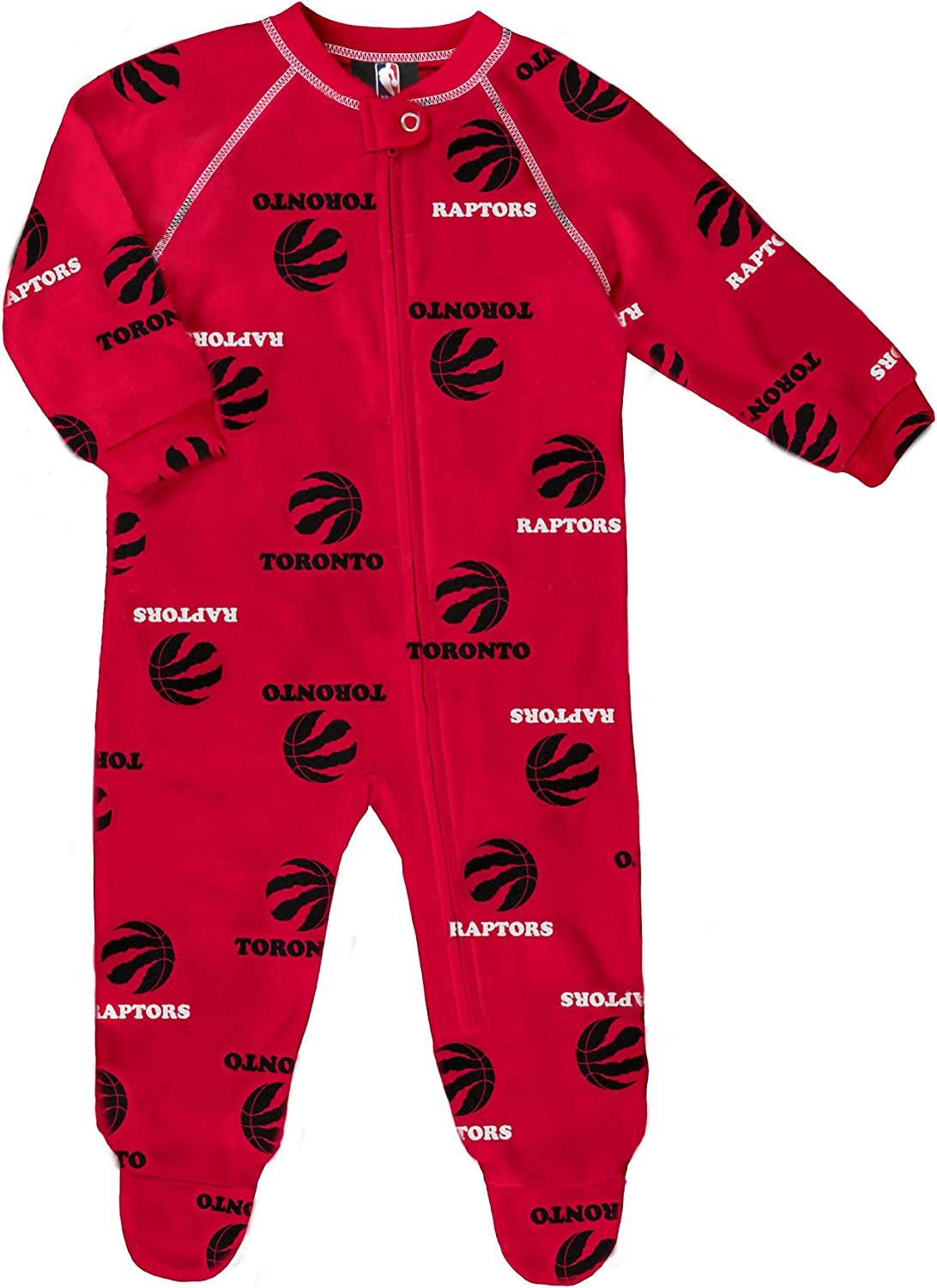OuterStuff Toronto Raptors Newborn All Over Print Raglan Sleeper