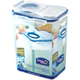Lock & Lock Polypropylene HPL813F 1.8 Liter Rectangular Food Container With Lid, Clear Blue