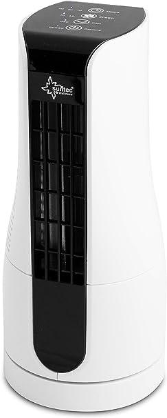 SUNTEC Tischventilator CoolBreeze Sensation Desk 27 cm hoch, 2 Stufen, extrem leise, oszillierend, Timer, 16 Watt