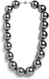 "Hot Girls Pearls Sterling Grey 18"" Cooling Necklace 