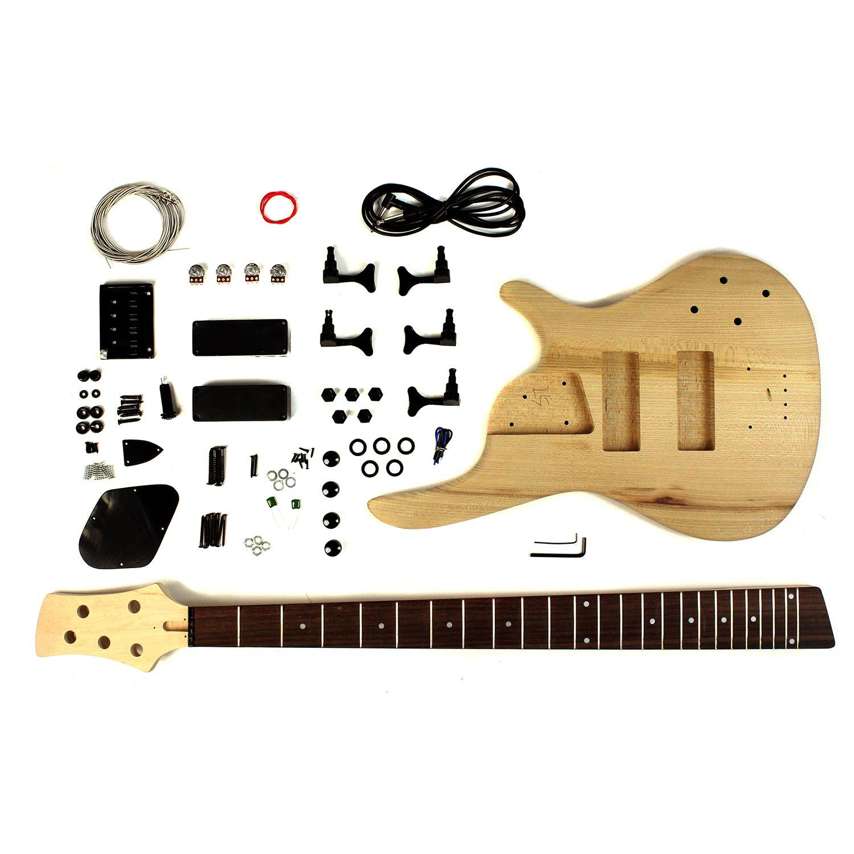 5 Schnur E-Bass Gitarre DIY Bausatz mit Asche Körper: Amazon.de ...