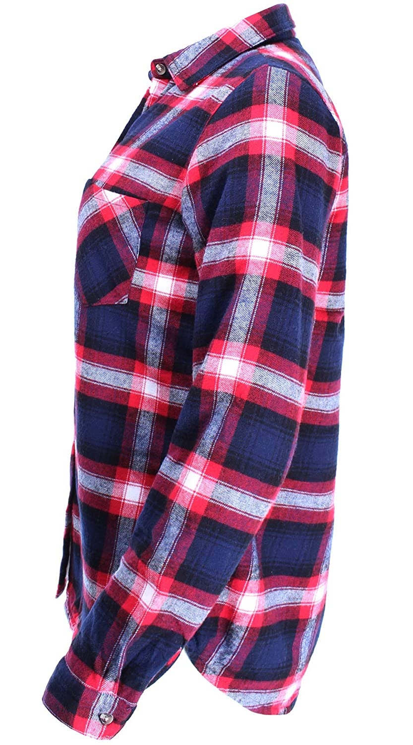 408ae838 Ladies' Code Women's Winter Flannel Plaid Button Down Top with Sherpa  Fleece Lining LCTL014 larger image