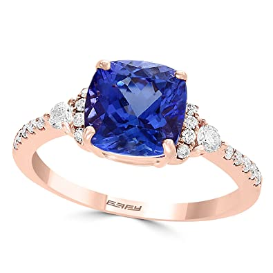 192225409 Image Unavailable. Image not available for. Color: Effy Tanzanite Royale 14K  Rose Gold Tanzanite & Diamond Ring ...