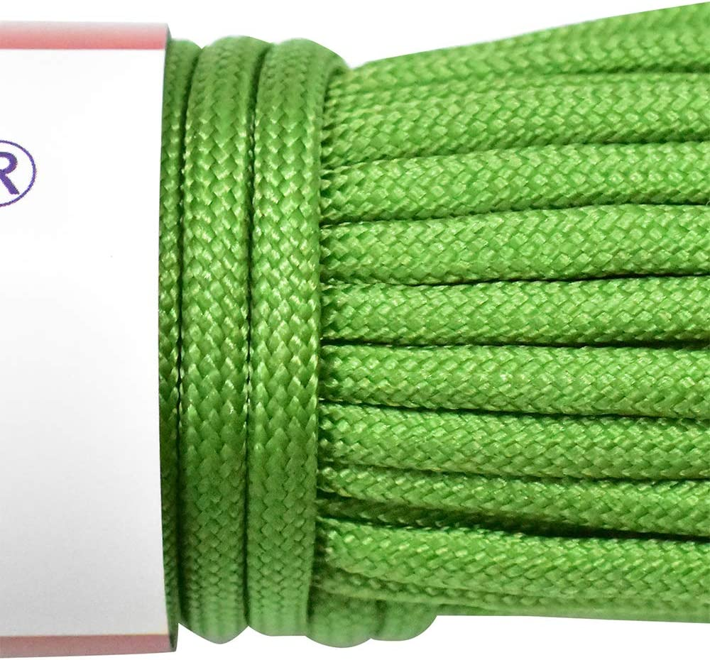 30m Length 249 Kg Breaking Strength HHOOMY 550 Paracord 7 Strand Nylon Parachute Cord Outdoor Survival Rope
