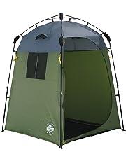 Lumaland Outdoor Pop Up Duschzelt Umkleidezelt Toilettenzelt Stehzelt Camping 155x155x220 cm robust verschiedene Farben