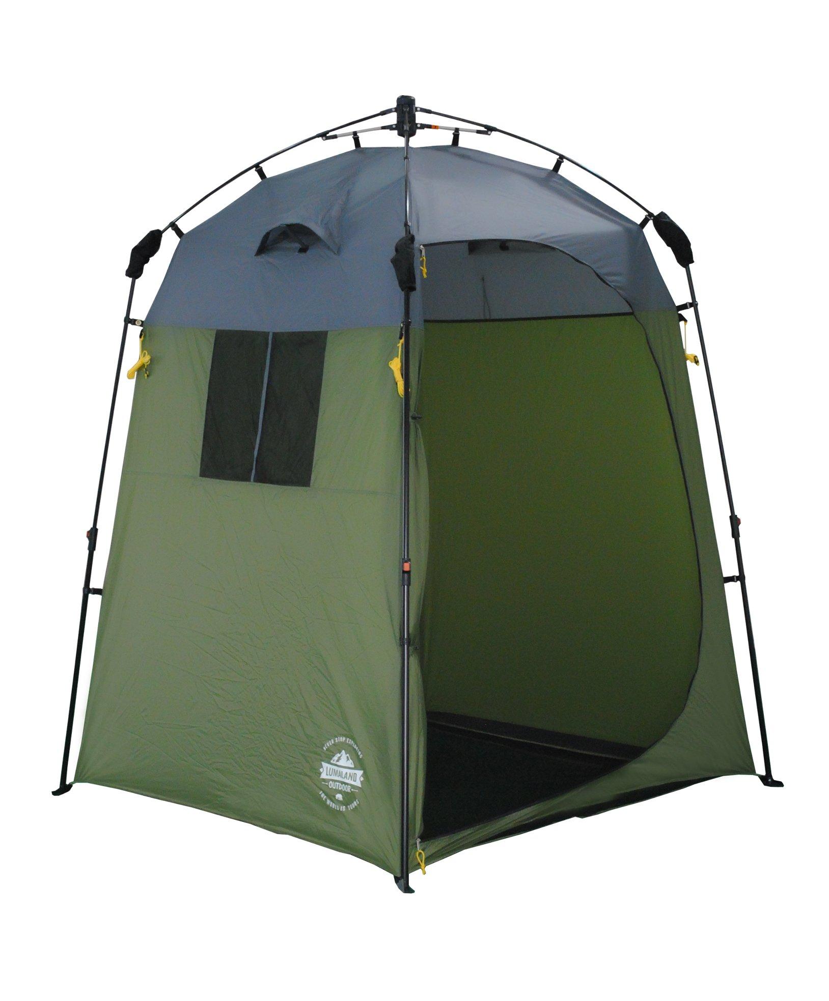 Lumaland Outdoor Pop Up Tienda de campaña Ducha Aseo Privacidad Camping 155x155x220 Verde product image