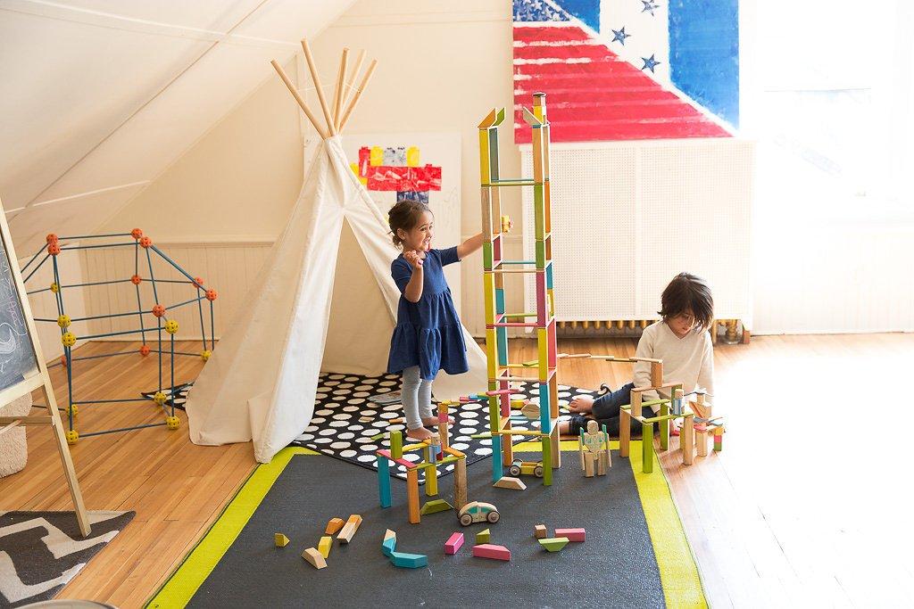 90 Piece Tegu Classroom Magnetic Wooden Block Set, Tints by Tegu (Image #4)