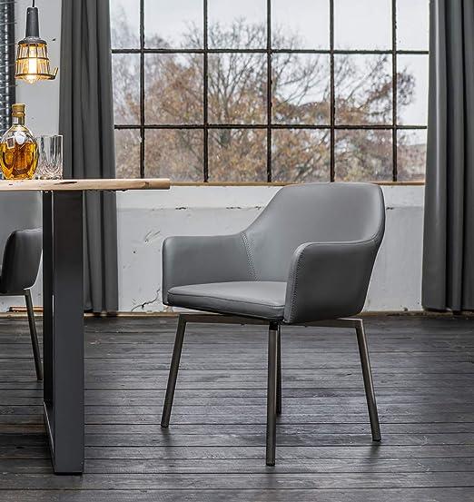 6er Set Stuhl Loui Sessel Kunstleder Esszimmerstuhl weiß