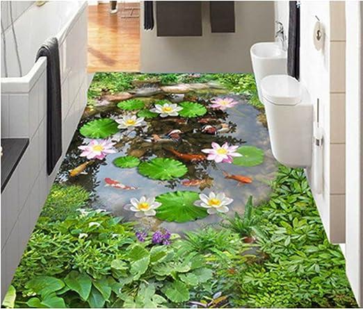 Zah Dunner 3d Teppich Rutschfest Fur Wohnzimmer Schlafzimmer Kuche Badezimmer 10 X 170 Cm Lotusteich Amazon De Kuche Haushalt