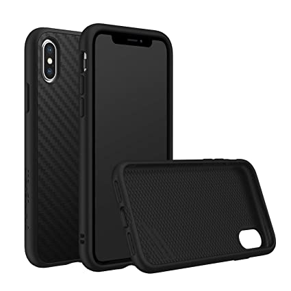 official photos e8b37 45704 RhinoShield Case for iPhone X [SolidSuit] by Shock Absorbent Slim Design  Protective Cover with Premium Matte Finish [3.5M/11ft Drop Protection] - ...