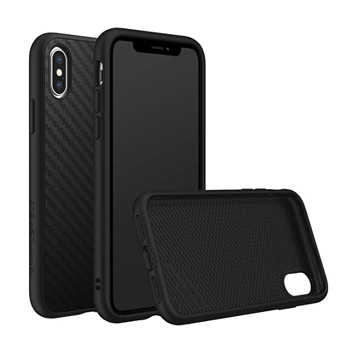 brand new 40c2a 2b35a RhinoShield Full Impact Protection Case for [ iPhone X ], SolidSuit Series,  Military Grade Drop Protection, Supports Wireless Charging, Slim, Scratch  ...