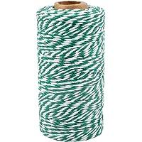 100 M katoen touw koord, bakkers touw keuken touw 100 M Groen en Wit