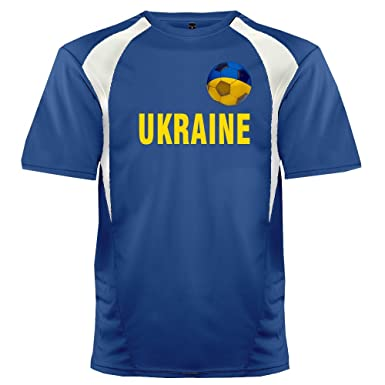 30d062b03 Custom Ukraine Soccer Ball 1 Jersey Adult 3X-Large in Royal Blue and White