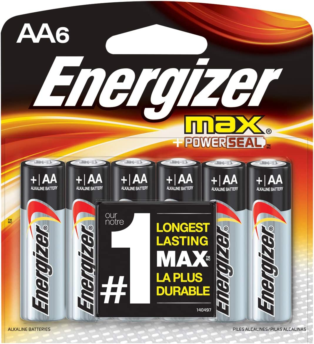 180 Energizer AA Max Alkaline 1.5V Batteries (6x30 Pack) Retail Packaging