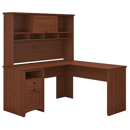Bush L Shaped Desk With Hutch Custom Ikea Desk