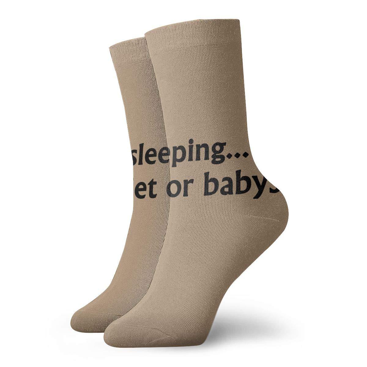 Rhodar Unisex Comfort Baby Sleeping Be Quiet Babysit Crew Socks