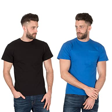 197cd93f581 Fruit of the Loom Men s Plain Heavy Cotton (2 Pack) T-Shirts  Amazon ...