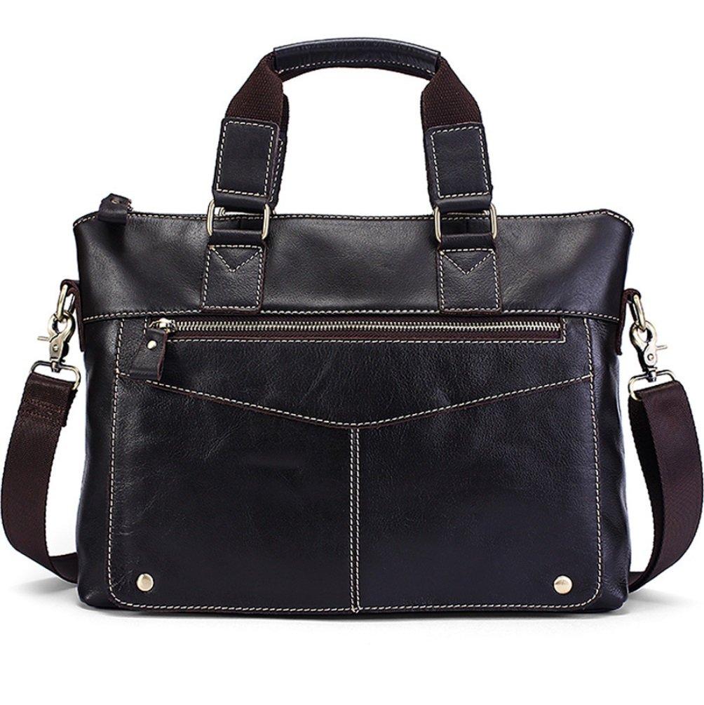 SHISHANG Männer Portable Aktentasche Leder Geschäft Bag Casual Schulter Messenger Bag ZYXCC