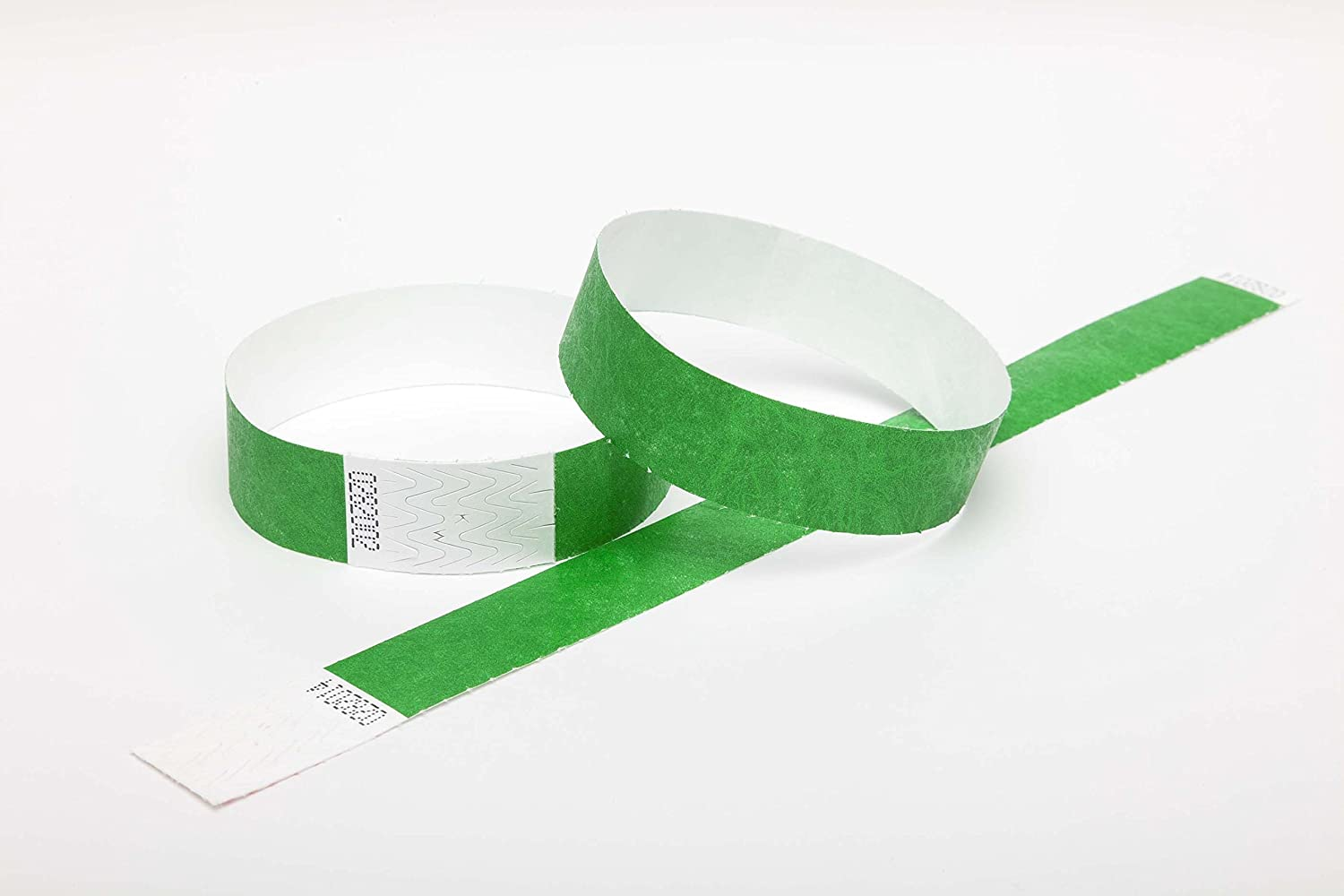 100 GREEN Premium Tyvek Wristbands UK Wristbands