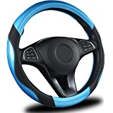 AmeriLuck Steering Wheel Cover for Car, Universal 15 inch, Odorless, Breathable, Anti-Slip, Sporty, Soft and Snug Grip…
