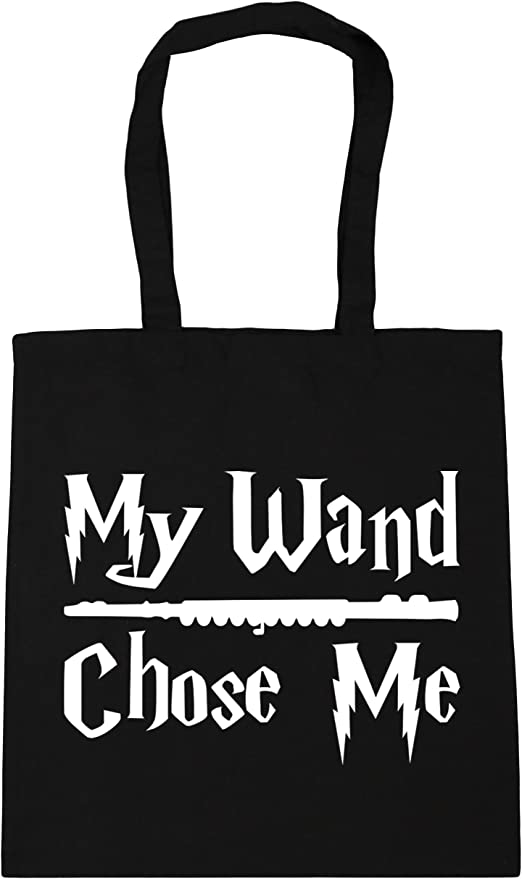 HippoWarehouse My Wand Chose Me (Flute) Tote Shopping Gym
