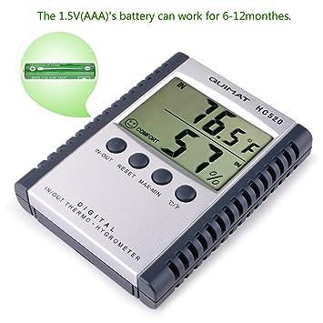 Temperature Humidity Meter Quimat Hygrometer Thermometer Humidity Monitor  Temperature