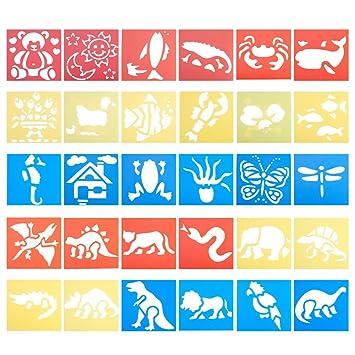 nbeads 30 Stück Tier Kunststoff Malerei stencils-30 Verschiedenen ...