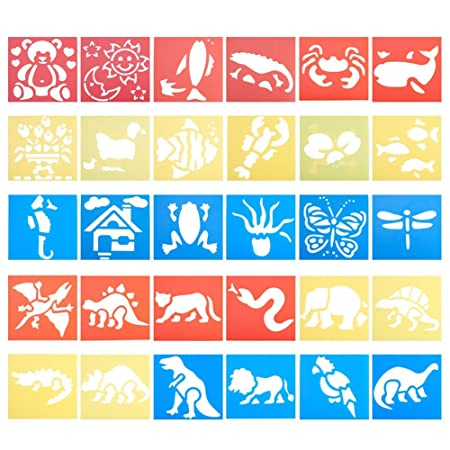 Nbeads 30 Pieces Animal Plastic Painting Stencils 30 Different