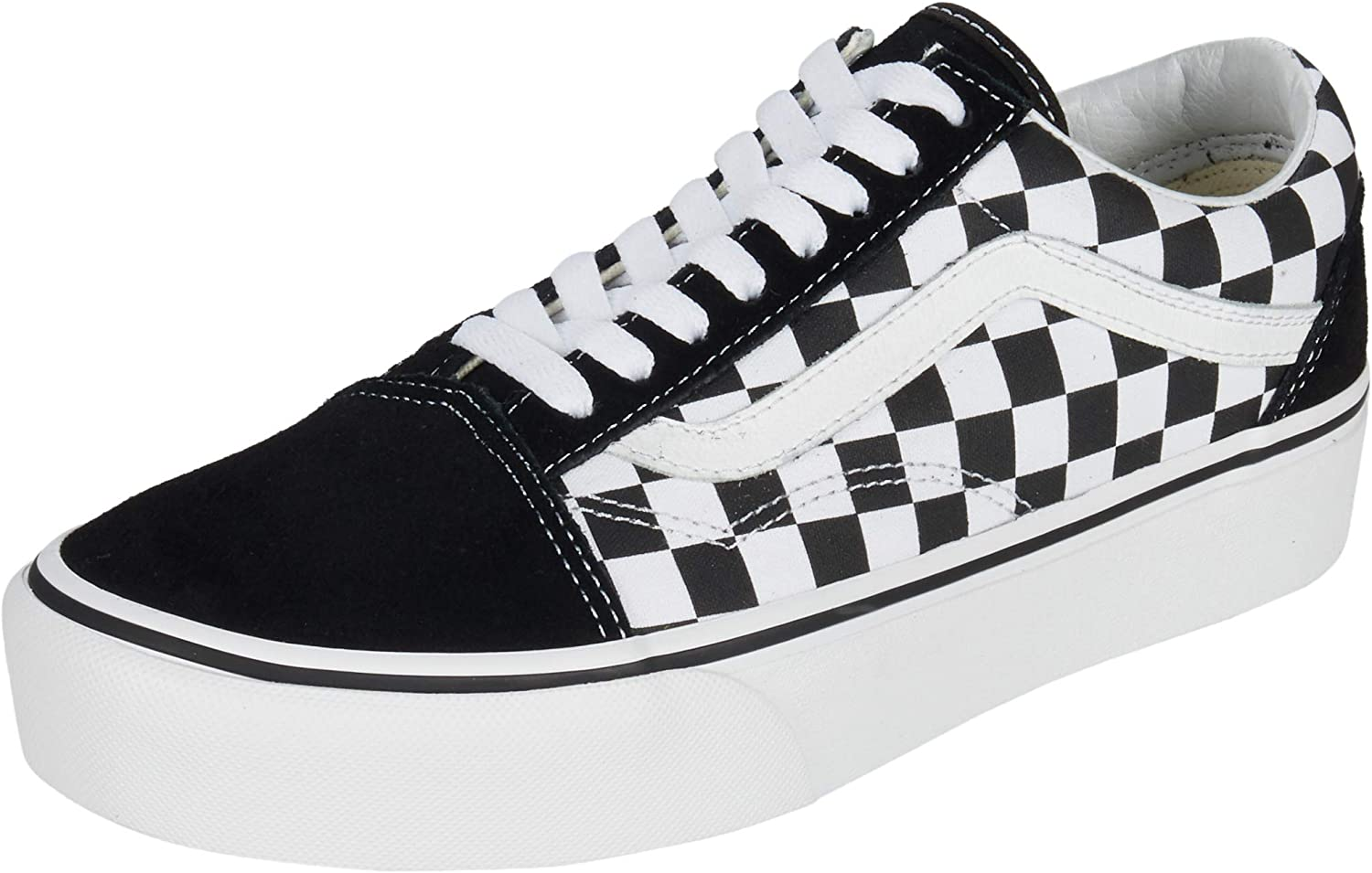 Vans Mens Checkerboard Old Skool Platform Black/True White Sneaker