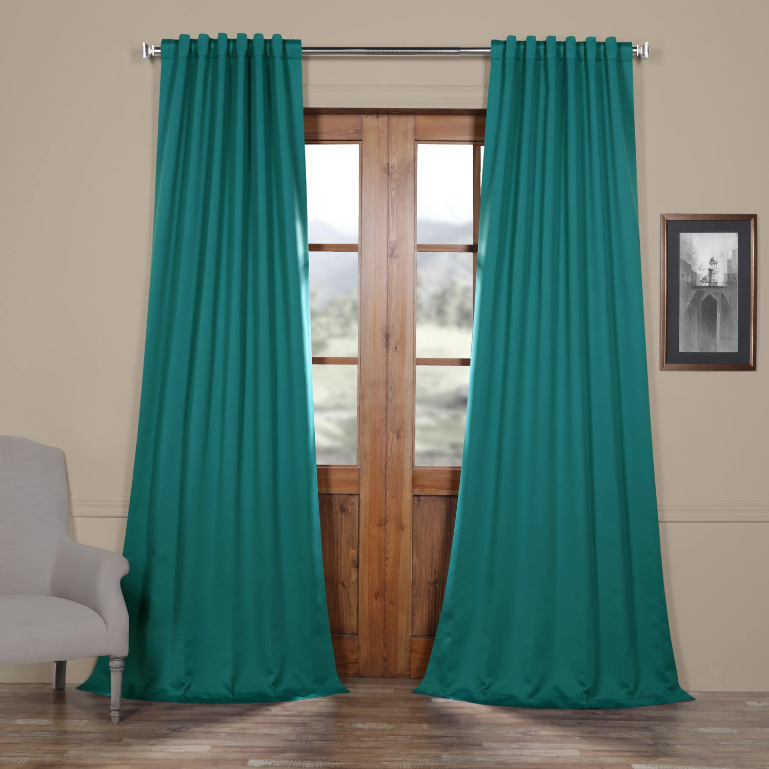 Half Price Drapes BOCH-201301-84 Blackout Curtain, Aubergine EFF