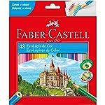 Lápis Sextavado EcoLápis Faber Castell, Multicor, 3 caixas  com 48 unidades cada