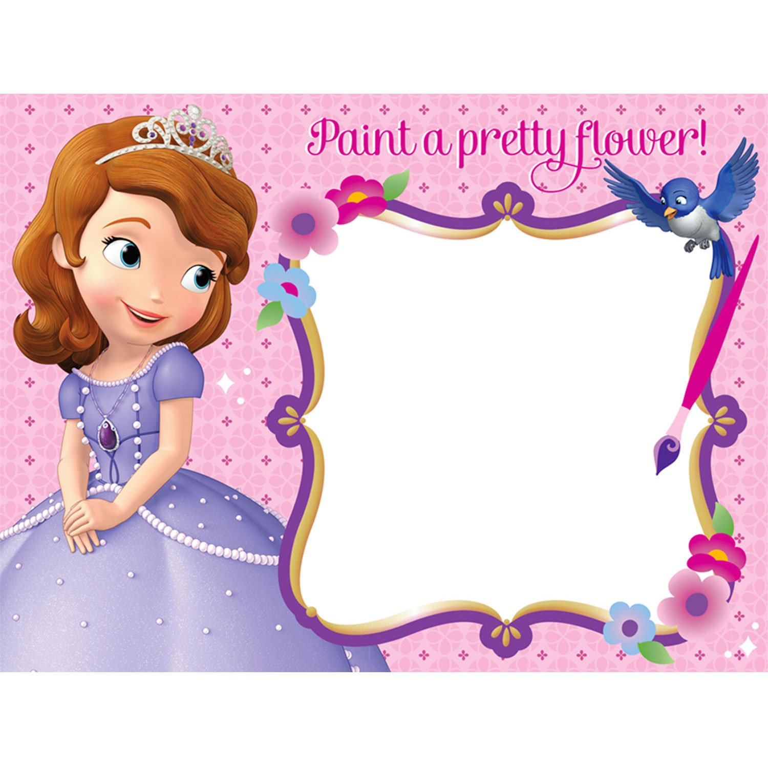 Amazoncom Sofia the First Watercolor Board Party Favors 4 ct