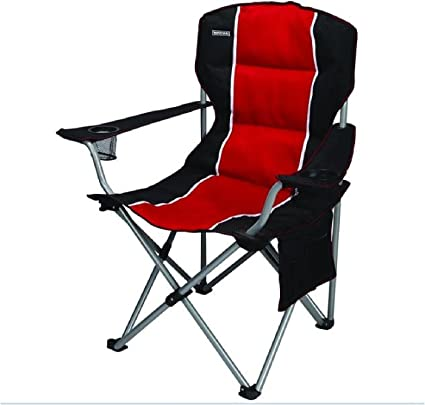 Craftsman Folding Chair Foam Padded Outdoor Camping Stool With Side Pockets
