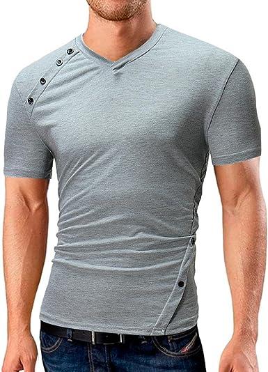 OHQ_Camiseta La camisa ocasional Xlarge para Hombres Grey XL: Amazon.es: Ropa y accesorios