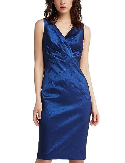 3853aa08a719 APART Fashion Damen Kleid Midnightblue-Dusty Pink-Print: Amazon.de ...