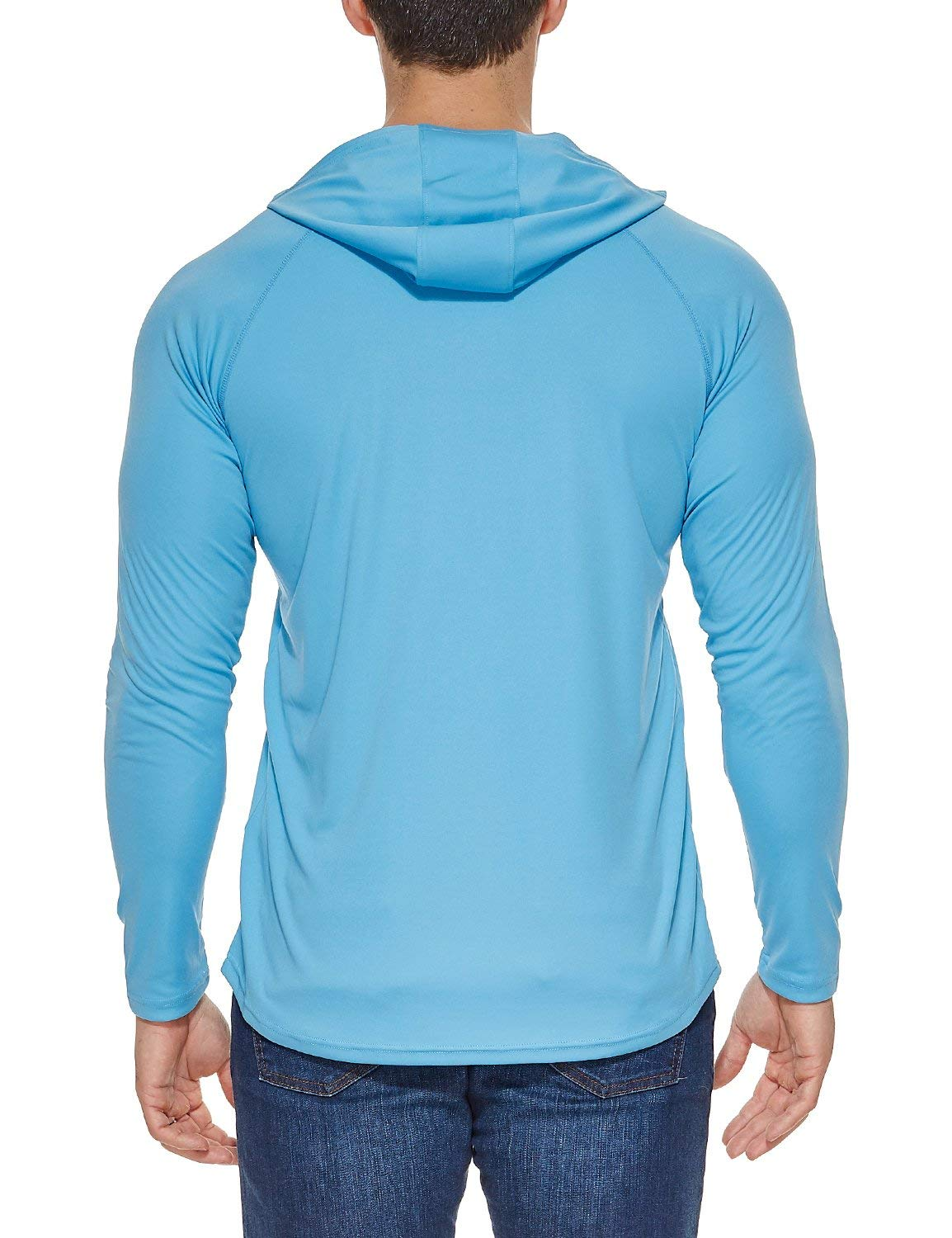 Sun Protection Hoodie Long Sleeve Performance T-Shirt BALEAF Mens UPF 50