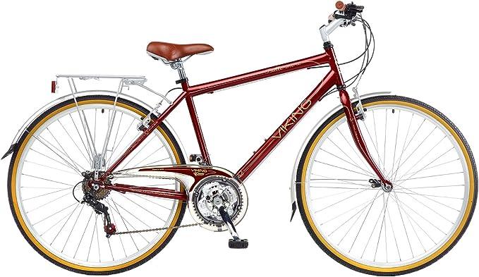 2015 Vikingo Buttermere caballeros tradicional 18sp bicicleta híbrida, color Rojo - rosso, tamaño 22 pulgadas: Amazon.es: Deportes y aire libre