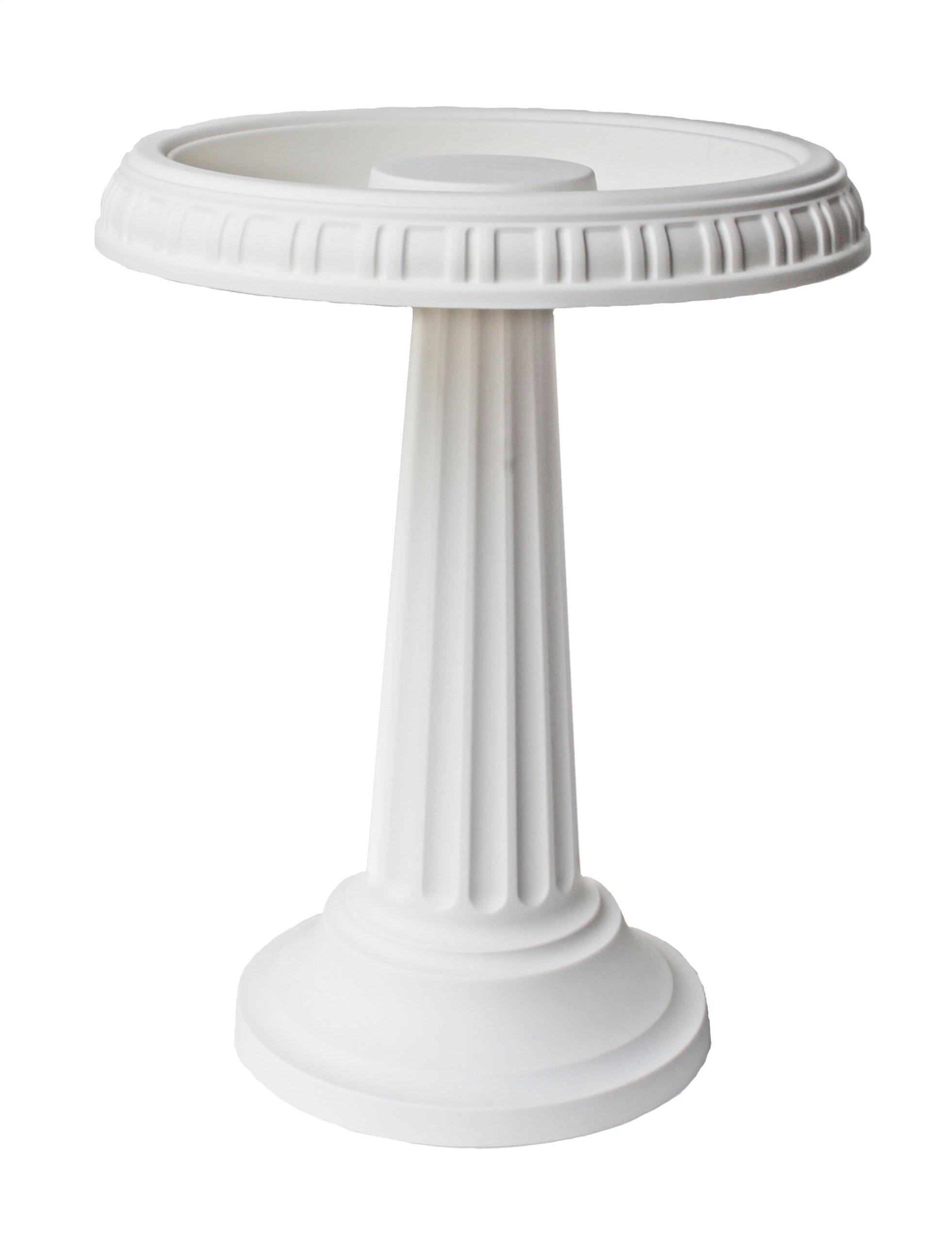 Bloem Grecian Bird Bath with Pedestal, 24'' x 19'', White (BB2-10)