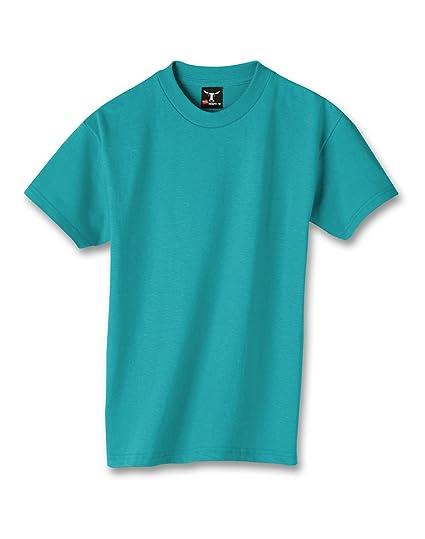 81d74b49 Hanes Kids' Beefy 6.1 oz T-Shirt, Teal, XS