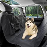 MCBOSON Waterproof Hammock Convertible Pet Seat Cover Perfect for Cars,SUVs and Trucks-Nonslip,Pocket,Quilted,Velcro Seatbelt Openings, Zipper,Extra Side Flaps, Machine Washable-With 2 Pockets