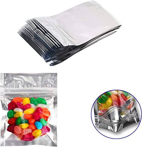 Smell Proof Mylar Bags Foil Pouch Resealable Zip Lock 4 x 6 Inches
