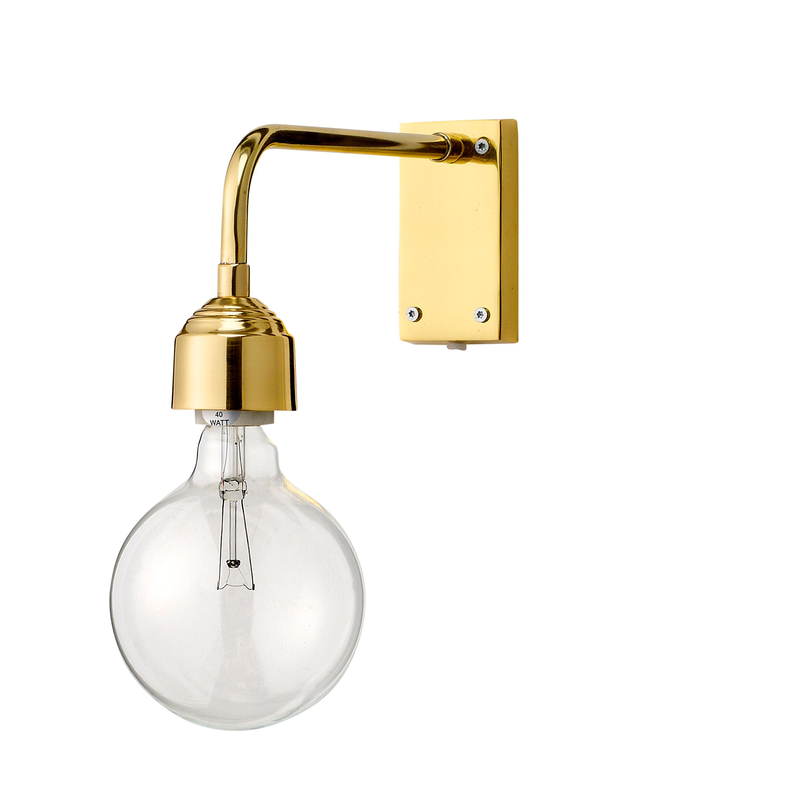 Bloomingville Brass Wall Lamp, Gold Electroplated Finish
