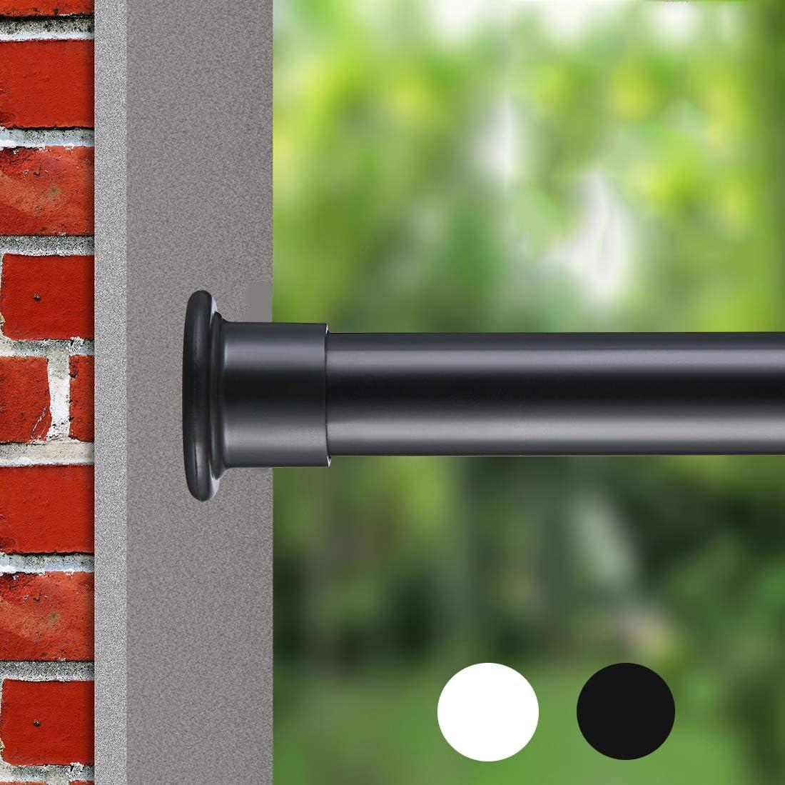 allzone spring shower tension curtain rod for shower room doorway wardrobe steel no drilling rust free 28 41 black