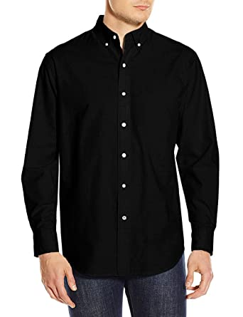 Amazon Com Toporus Mens Oxford Shirt Long Sleeve Solid Color Slim