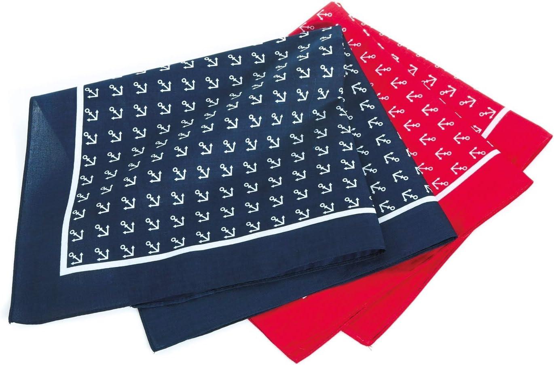 YACHTICON Viereck-Halstuch mit Ankermotiv Farbe:rot