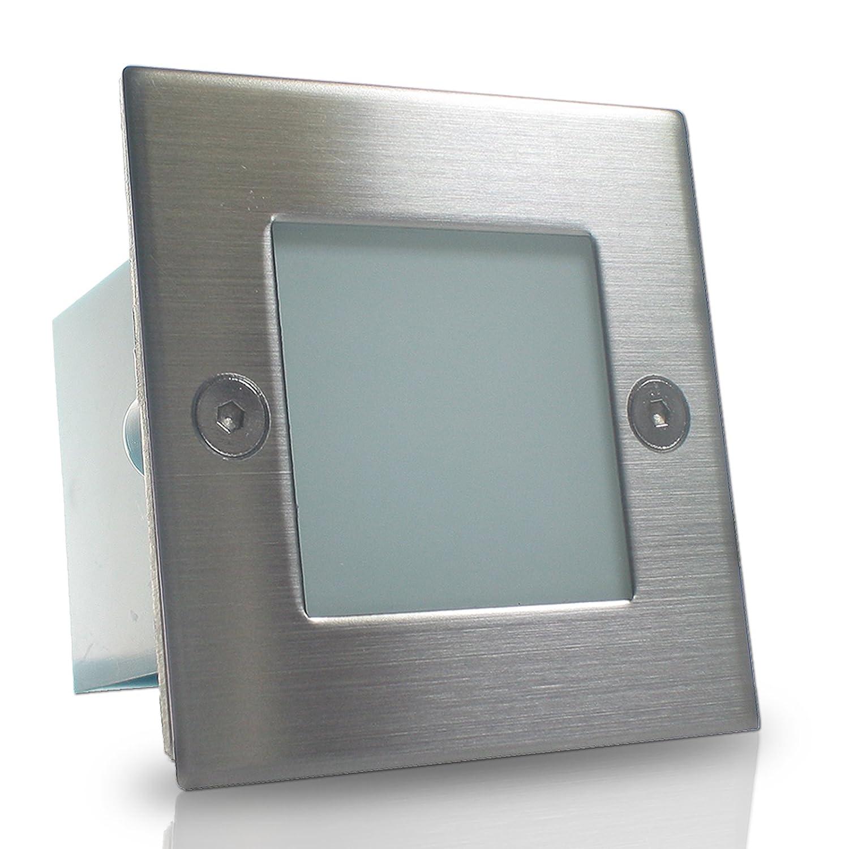 5er Set Wandleuchte GRAZIO LED (1-5er Sets) 230V IP54 GARANTIE 3 Jahre Wandeinbauleuchte Einbaustrahler Treppenlicht Treppenleuchte 0,6W Warm-Weiß Treppenlicht Treppenleuchte Sicherheitslicht