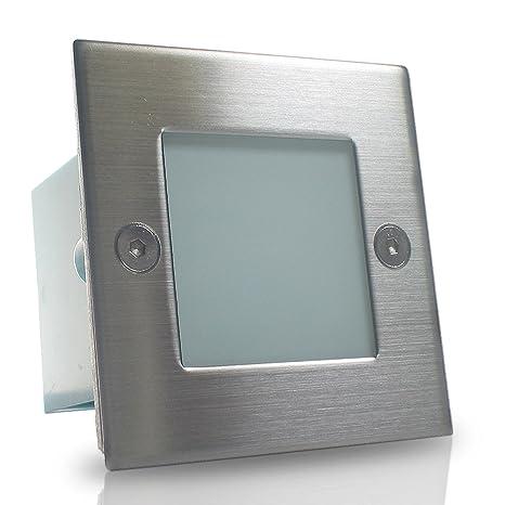 LED Treppenbeleuchtung Wand-Leuchte 230V IP54 0,6W Innen Aussen Set GRAZIO