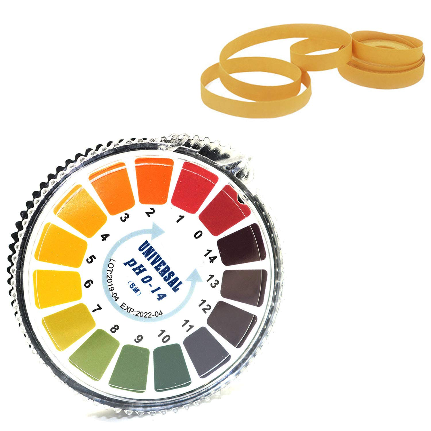 DGZZI 1 Roll PH Test Strips 0-14 16.4ft Alkaline Acid Indicator Meter Test Paper Roll for Water Urine Saliva Soil Litmus Accurate Testing Measuring Tool