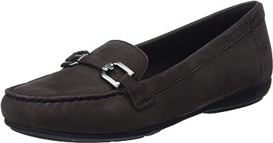 Aprobación Reportero Agarrar  Amazon.com | Geox Women's Annytah 1 Suede Bit Loafer Flat | Loafers &  Slip-Ons